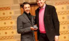 """ميدالية """"بروكسل الفخرية"""" للممثل اللبناني شادي حداد"""